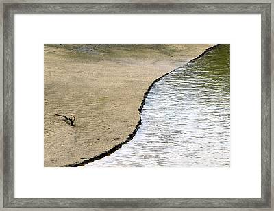 Water And Sand Framed Print by Dottie Dees