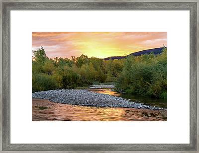 Water And Sky Framed Print by Mary Hone