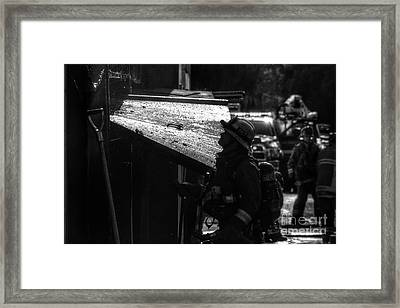 Water And Soot Framed Print