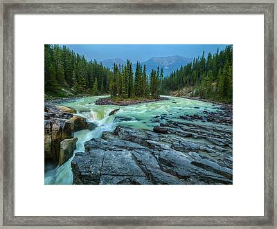 Water And Stone Framed Print