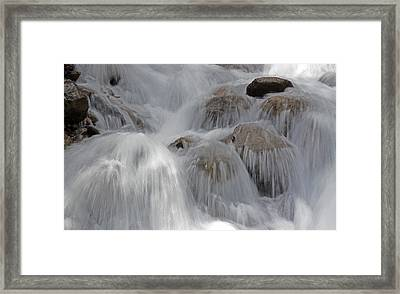 Water And Stone- Dance Of The Elements Framed Print
