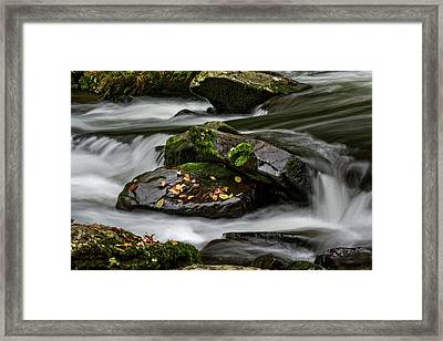 Water Around Rocks Framed Print