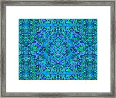 Framed Print featuring the digital art Water Art Pattern  by Julia Woodman