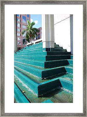 Framed Print featuring the photograph Water At The Federl Courthouse by Rob Hans