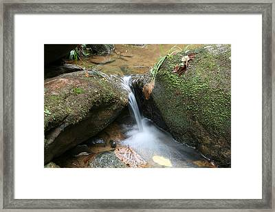 Water At Work Framed Print by Walt Reece