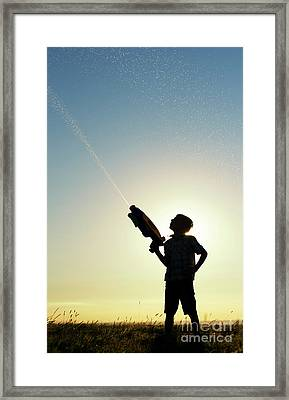 Water Blaster Framed Print by Tim Gainey