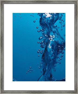 Water Bubbles Framed Print
