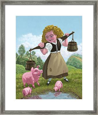 Water Bucket Maid Framed Print by Martin Davey