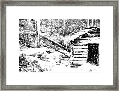 Water Cabin  Framed Print
