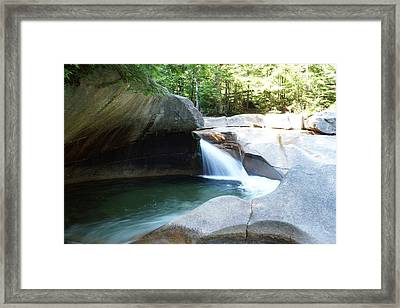 Framed Print featuring the photograph Water-carved Rock by Kerri Mortenson