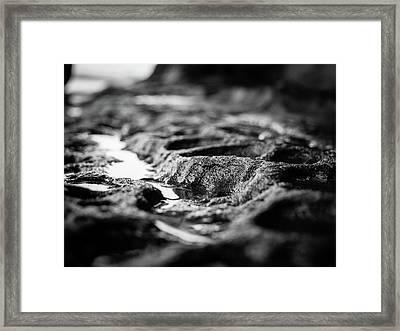 Water Carvings Framed Print