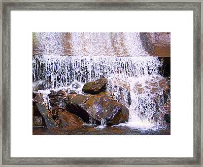 Framed Print featuring the photograph Water Cascade by Roberta Byram