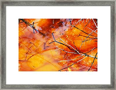 Water Color Over Sand Bottom Framed Print by Peter  McIntosh