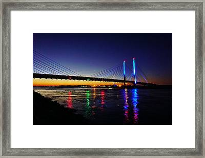 Framed Print featuring the photograph Water Colors by Ed Sweeney