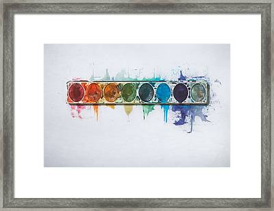 Water Colors Framed Print by Scott Norris