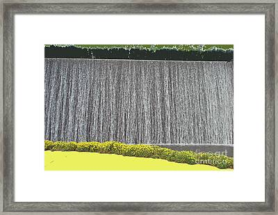 Framed Print featuring the photograph Water Curtain by Bill Thomson