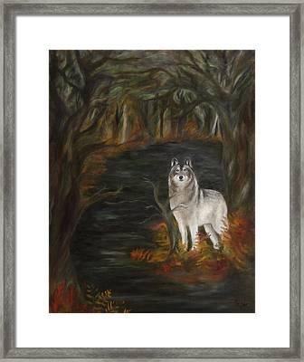 Water Dark Framed Print