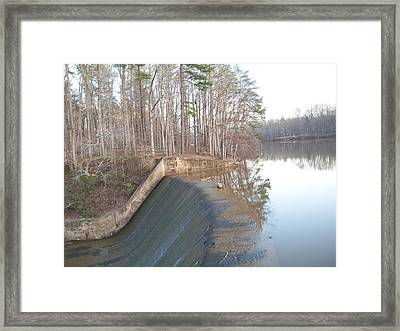 Water Draft Framed Print