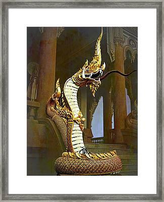 Water Dragon-  Phaya Naga Framed Print