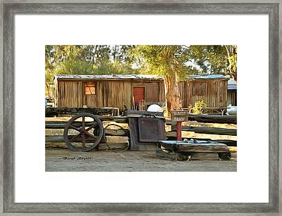 Framed Print featuring the photograph Water Draw At Hotel Nipton California By Floyd Snyder by Floyd Snyder