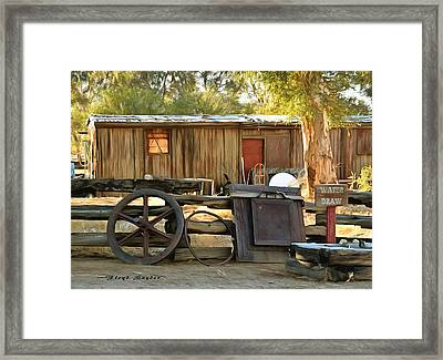 Framed Print featuring the photograph Water Draw At Hotel Nipton California Detail by Floyd Snyder