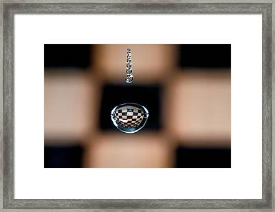 Water Drop Chess Board Framed Print