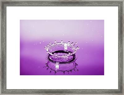 Water Drop Crown Framed Print