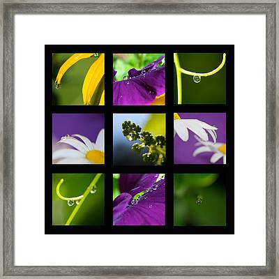 Water Drop Mosaic Framed Print