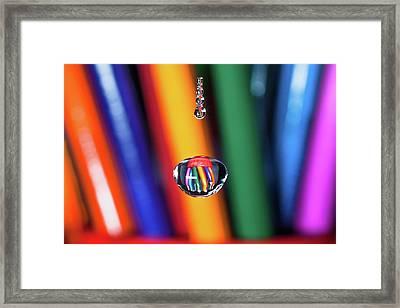 Water Drop Pencils Framed Print