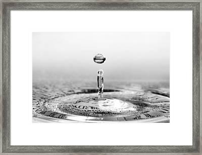 Water Drop Script Framed Print