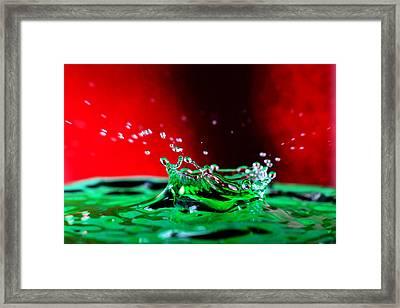 Water Drop Splashing Framed Print