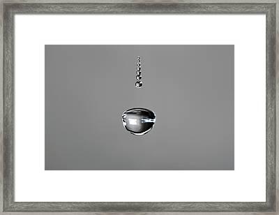 Water Drop Trail Framed Print