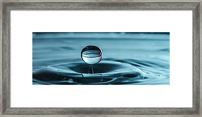 Water Drop With Milk Framed Print