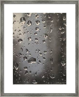 Water Droplets Framed Print