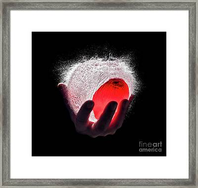 Water Explosion Framed Print