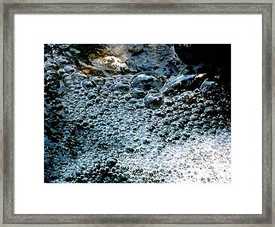 Water Fall Bubbles Framed Print