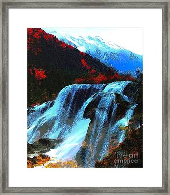Water Fall In Asgelmint Framed Print