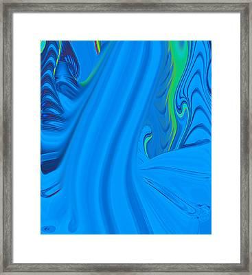 Water Fall Framed Print by Joshua Sunday
