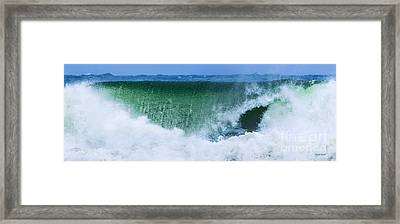 Water Falling Framed Print