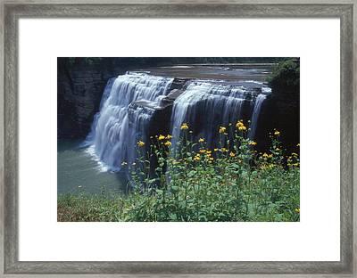 Water Falls Framed Print by Raju Alagawadi
