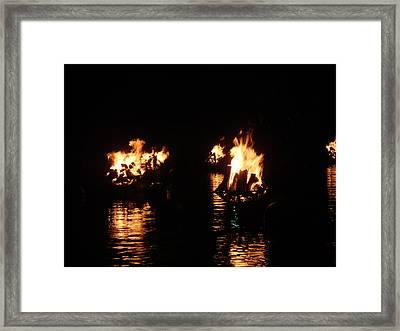Water Fire Framed Print by Jeff Porter