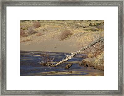 Water Flow In The Great Sand Dunes Framed Print