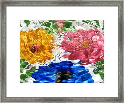 Water Flowers Framed Print