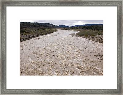 Water Flowing After Record-setting Framed Print by Rich Reid