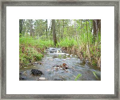 Water Flows After A May Rain Framed Print by Kent Lorentzen