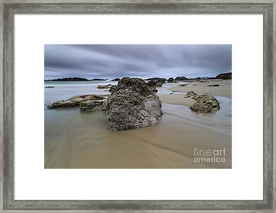 Water Flows And Clouds Float Framed Print