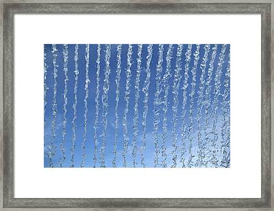 Water Fountain Against Blue Sky Framed Print by Gerard Lacz
