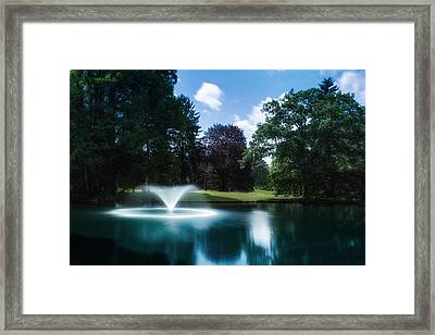 Water Fountain At Spring Grove Framed Print by Tom Mc Nemar