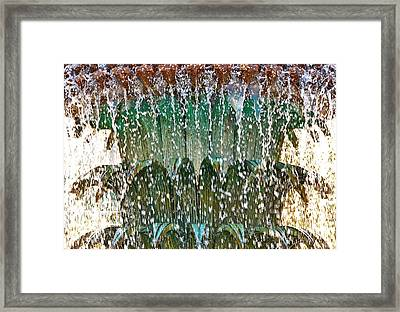 Water Fountain Bright Charleston Framed Print by Lori Kesten