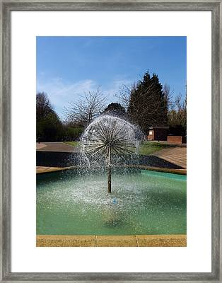 Water Fountain Framed Print by Jeff Townsend